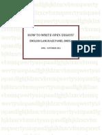 How to Write Open Essays