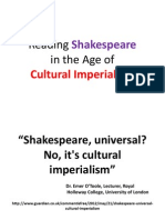 Reading Shakespeare at the Time of Cultural Imperialism