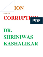 Action Against Corruption Dr Shriniwas Kashalikar