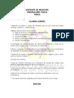 Funciones Asistente de Negocios Tunja