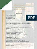 Programação - V Encontro de Musicologia de Ribeirão Preto