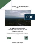 Plan Maestro 2002-2006 Parque Nacional Mirador-rio Azul