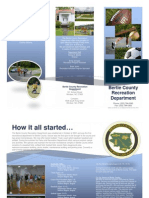 Bertie Recreation Department Brochure