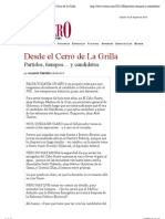 09/08/13 Partidos, tiempos… y candidatos | Desde el Cerro de la Grilla | Periodico Crucero