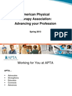 APTA Advancing YourProfession
