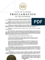 Proclamation - Congressional District 01 election