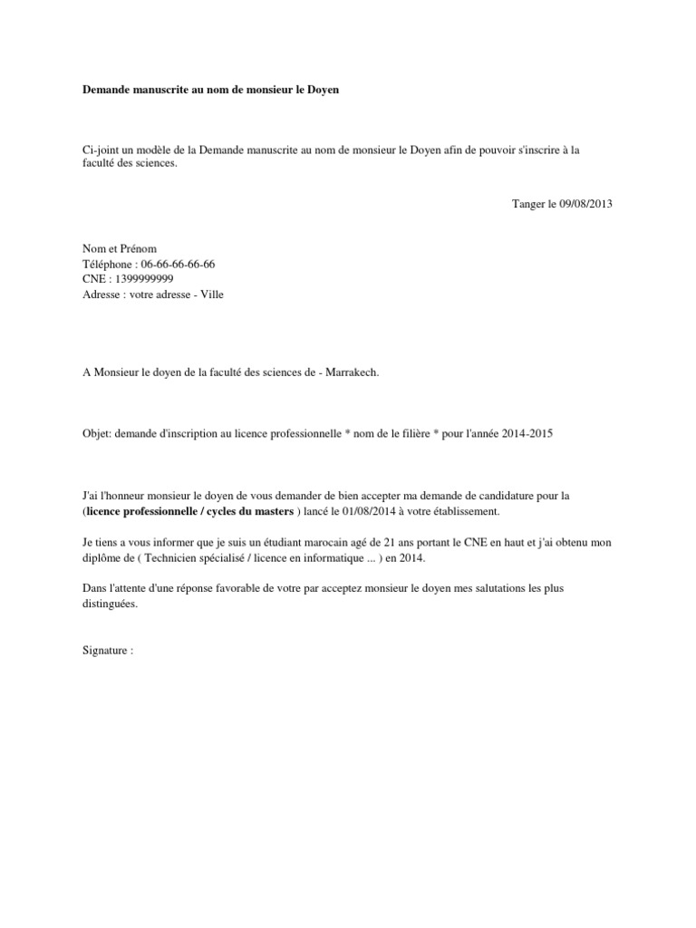 lettre de motivation pour un post doc