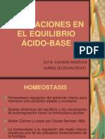 ALTERACIONES EN EL EQUILIBRIO ÁCIDO-BASE