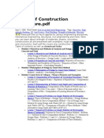 Design of Construction StructureTableContent