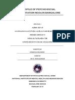 Profile of Psychosocial Rehabilitation NGOs in Bangalore