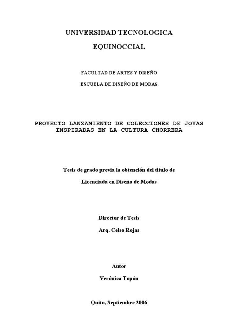 Joyeria Tesis de Grado Ecuador 2006 35ea94dc91e