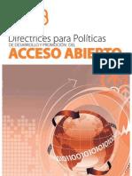 Directrices para políticas de Acceso Abierto