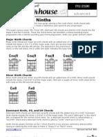 Jazz Chords Ninths