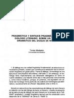 analisis pragmatico sintactico