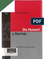 Bernhard Waldenfels - Introducción a la fenomenología, de Husserl a Derrida