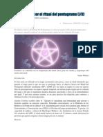 guía para hacer el ritual del pentagrama (iii)