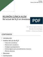 1 n2o en anestesia peditrica - reunin clnica hlcm