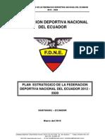 Plan Estrategico Fedenador 2012 - 2020