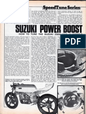 Tuning Suzuki GT250A M | Carburetor | Engine Technology