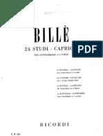 Isaia Billè - 24 Studi-Capricci Per Contrabbasso A 4 Corde