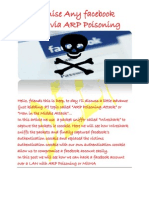 Compromising Facebook Account via ARP Poisoning
