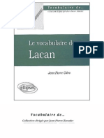 Clero Jean Pierre - Le Vocabulaire de Lacan