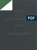 BE 1987 - 2001 I. Les Publications