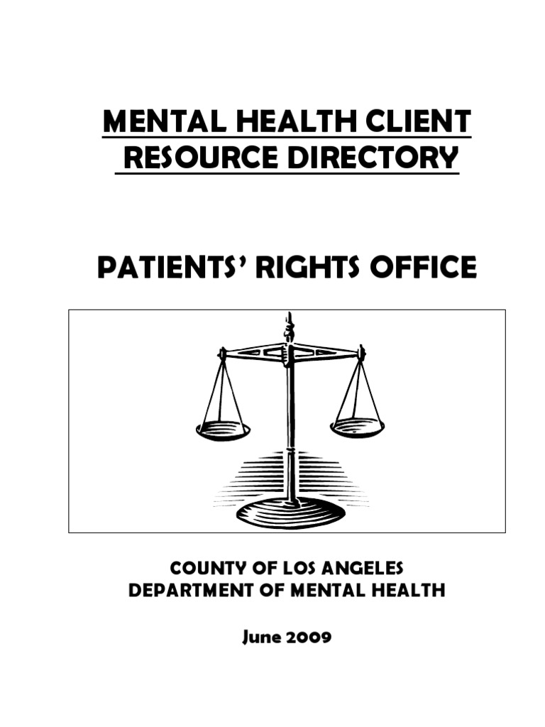 Mental Health Client Resource Directory 159784 Recovery Approach