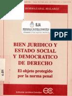 Bien Juridico y Estado Social y Democratico de Derecho - Hernan Hormazabal