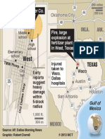 136745813 Location of West Texas Plant Explosion