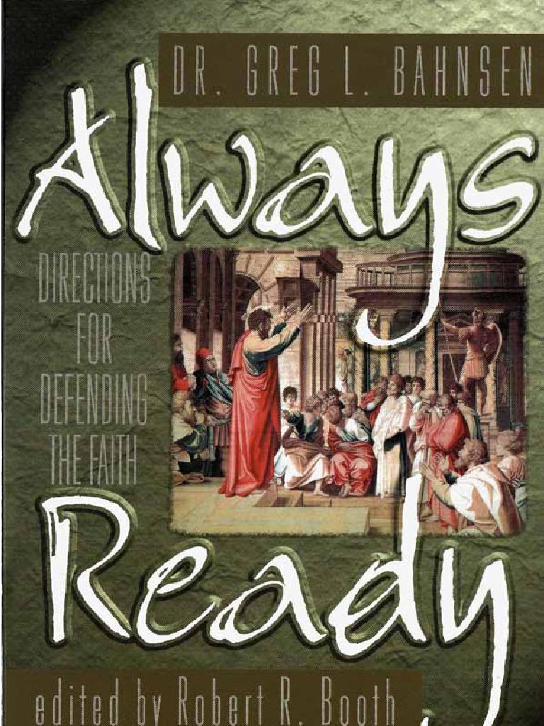 Always ready greg bahnsen christian apologetics jesus fandeluxe Images