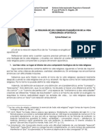 LA TEOLOGÍA DE LOS CONSEJOS EVANGÉLICOS DE LA VIDA CONSAGRADA APOSTÓLICA
