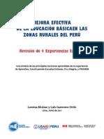 Mejora Efectiva de La Educacion en Las Zonas Rurales Del Peru - 4 Experiencia Exitosas