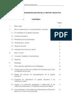 Propuesta de Municipalización II PARTE