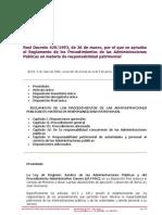 R.D. 429-1993, 26 de Marzo, Reglamento de los procedimiento de la Administraciones Públicas en materia de responsabilidad patrimonial
