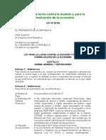 Ley Lucha Contra Evasion Formalizacion