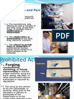 Food, Drug, And Cosmetics Act 2013