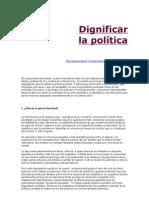 CiJ.Dignificar la política.rtf