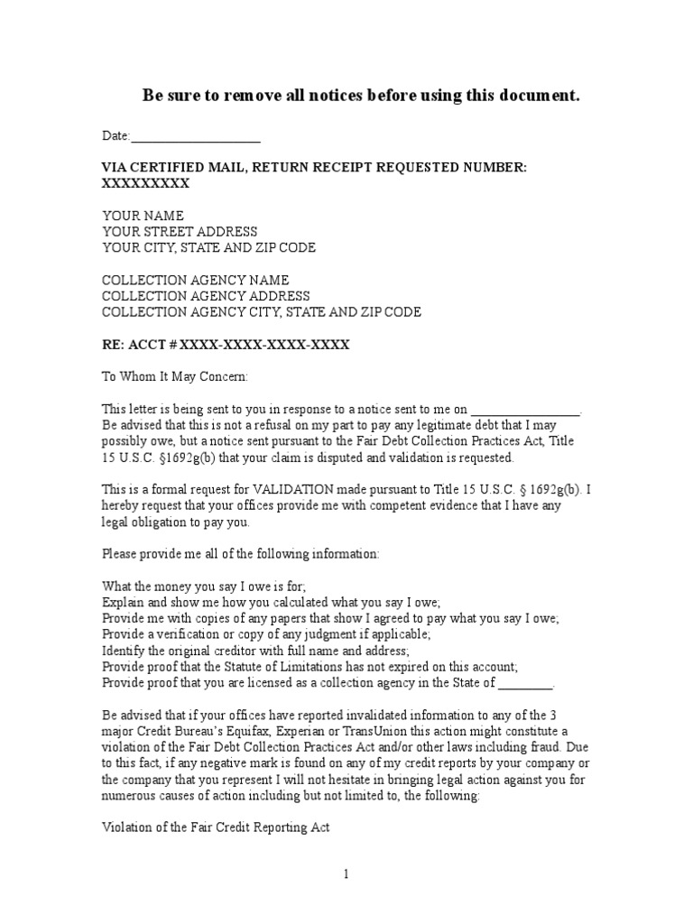 Debt Dispute Letter Sample from imgv2-1-f.scribdassets.com