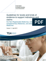 Evidence-claims TGA for Complementary Midicines