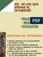 Factores Tesmonio i