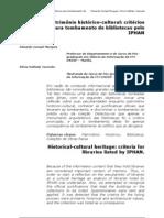 Patrimonio Historico Cultural Criterios Pra Tombamento - 148-420-2-PB