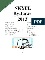 2013 Nkyfl Bylaws