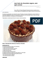 Vista-se.com.Br-Doaria Ensina a Fazer Bolo de Chocolate Vegano Sem Ingredientes de Origem Animal