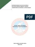 Estudio Juridico Doctrinario Practica Reposicion