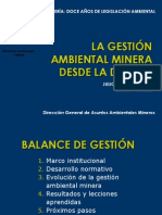 La Gestion Ambiental Minera
