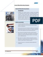 ERP case study. Chemical Manufacturing Industry