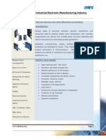 ERP -Electronic Control Instrument Manufacturing Company. Case study.