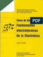 GTZ Curso de Electrónica 1 - Fundamentos Electrotécnicos de la Electrónica (Hojas de Trabajo)