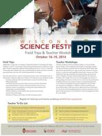 2014 Wisconsin Science Festival Teacher Workshops